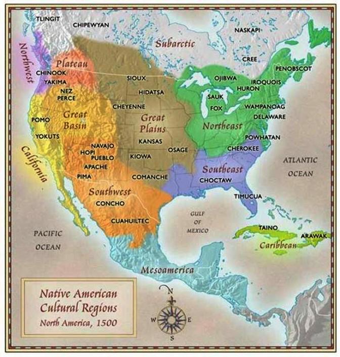 Tribu Indienne Carte.Les Tribus Amerindiennes Jumelage